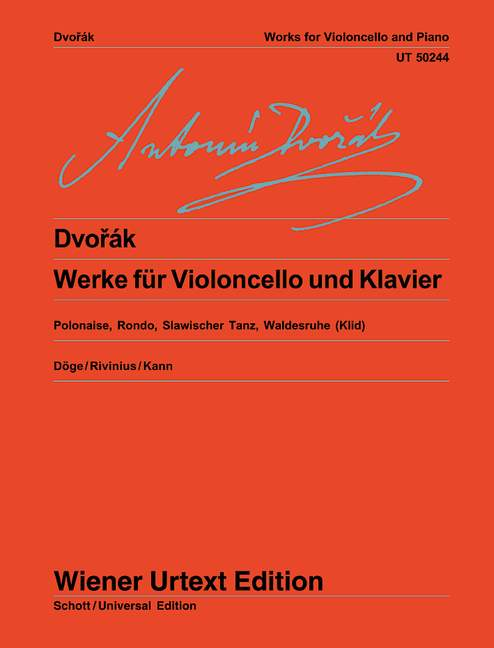 Dvorák: Works for Cello and Piano published by Wiener Urtext